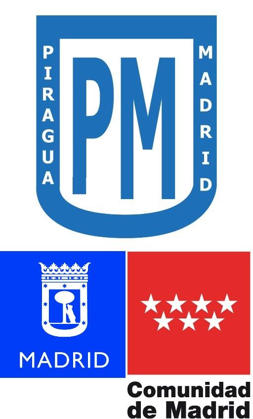 LOGO Piraguamadrid con patrocinadores