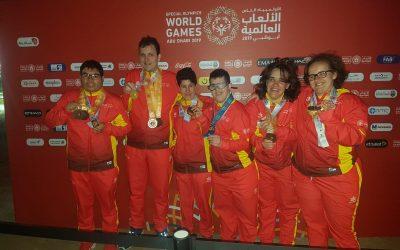 Medalla de bronce en las Olimpiadas Especiales de Abu-Dhabi